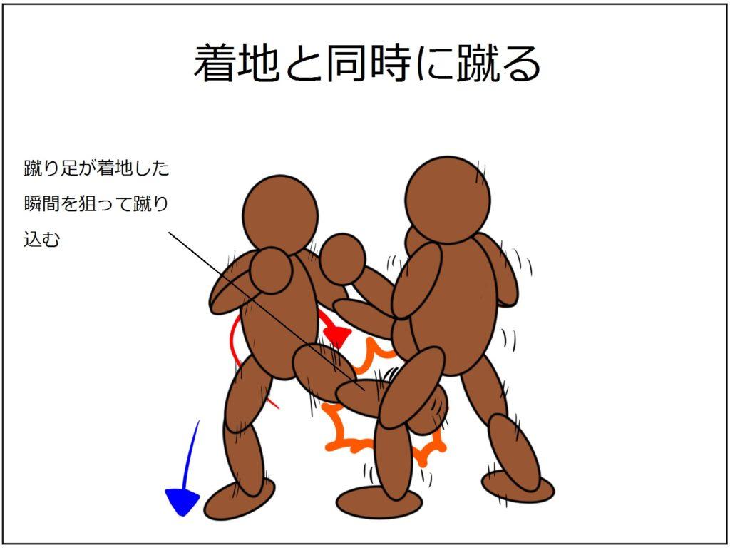 極真空手|【絶対当たる】下段蹴りを当てるなら、蹴り終わった脚を狙え!